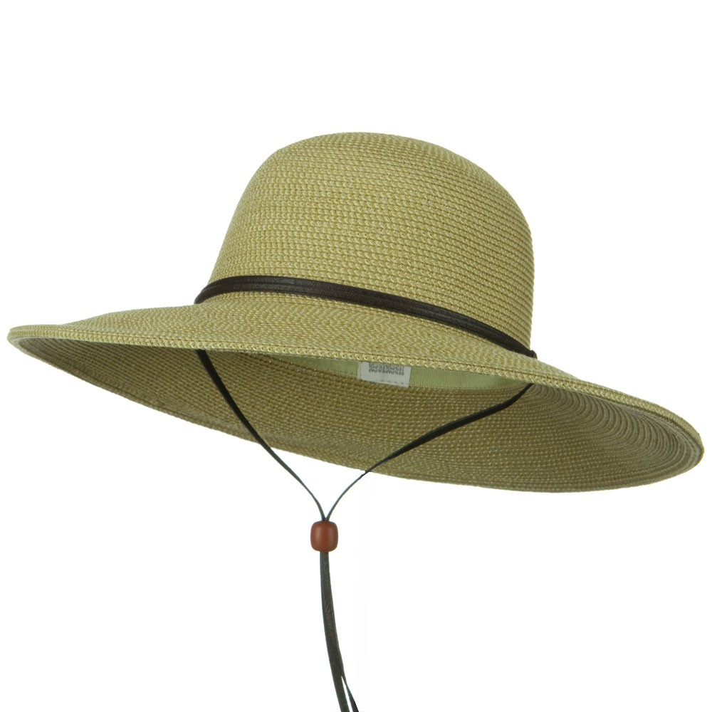 Flat 4 Inches Brim Straw Hat - Tan Tweed - Hats and Caps Online Shop - Hip Head Gear