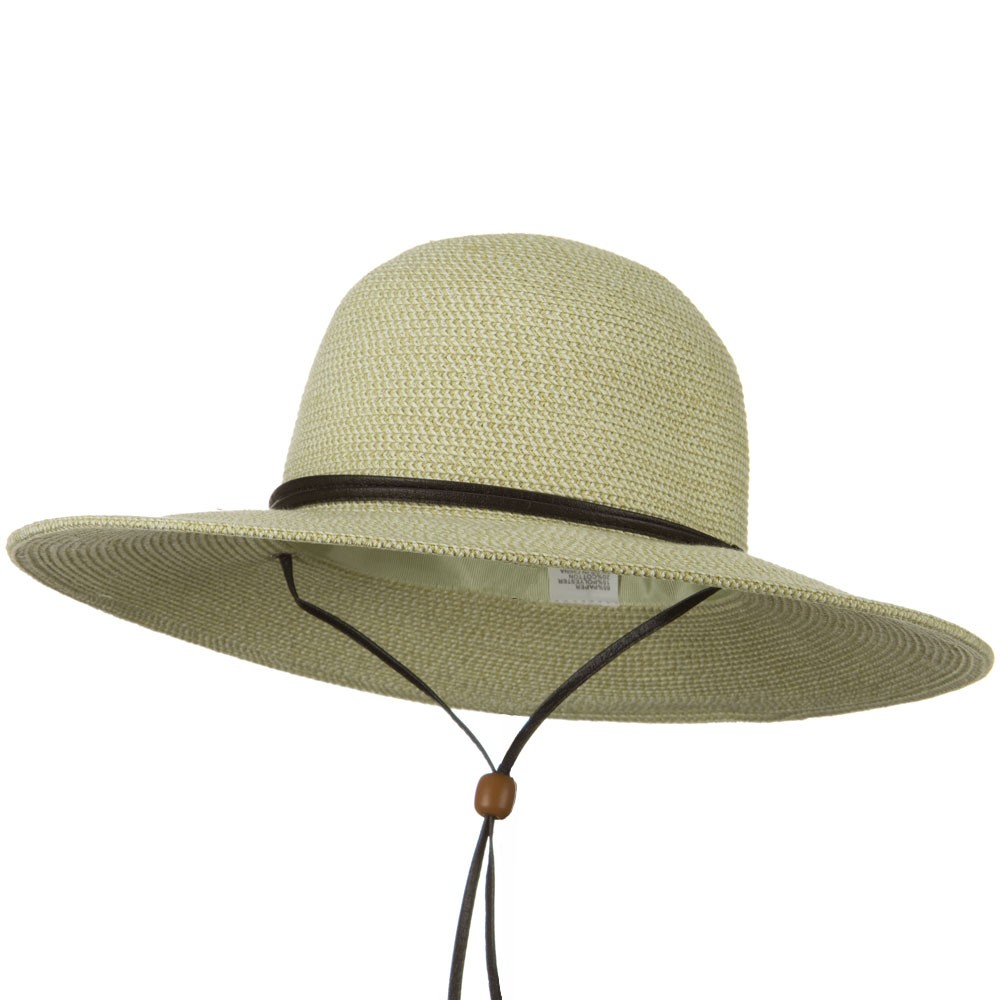 Flat 4 Inches Brim Straw Hat - White Tweed - Hats and Caps Online Shop - Hip Head Gear