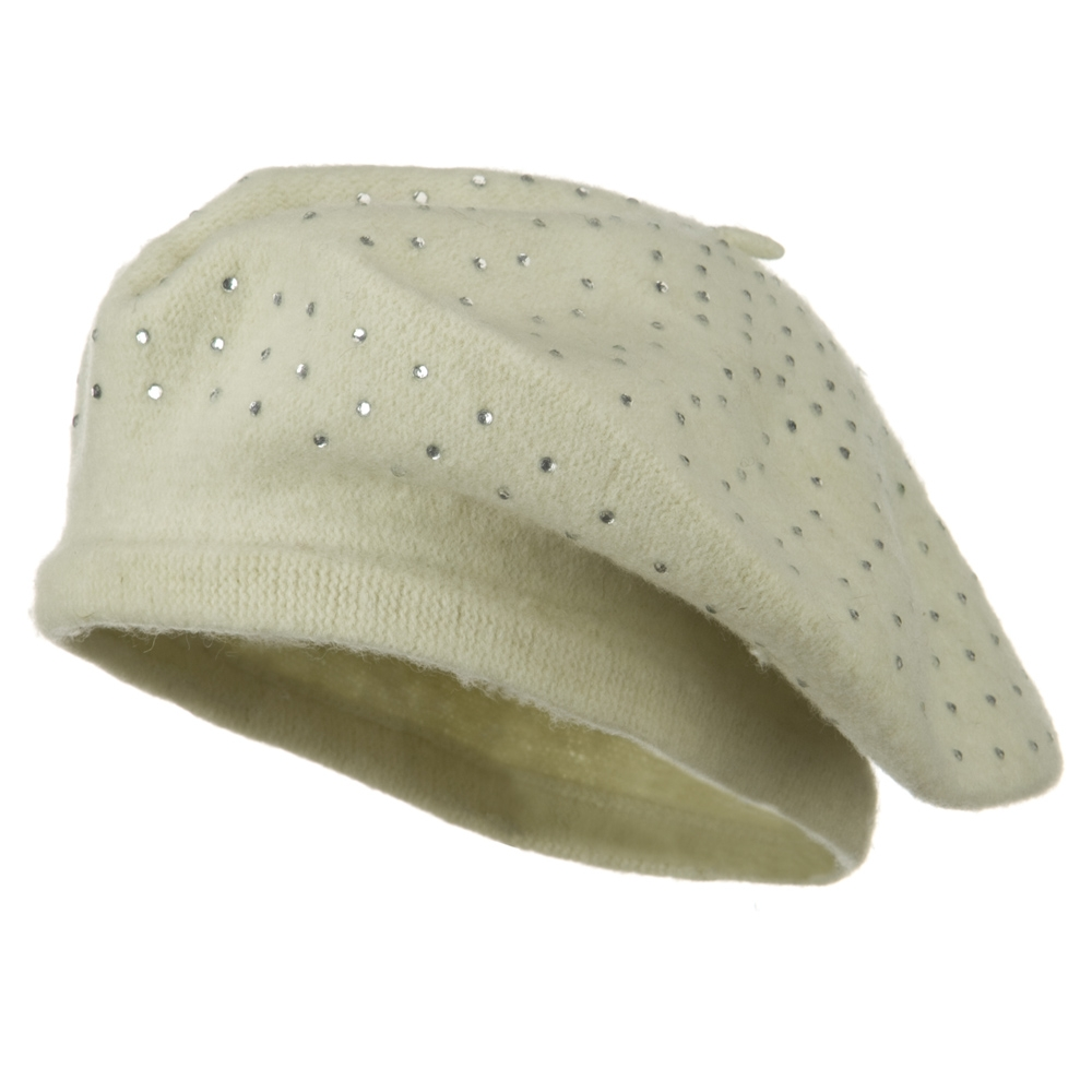 Stone Wool Beret - Ivory - Hats and Caps Online Shop - Hip Head Gear