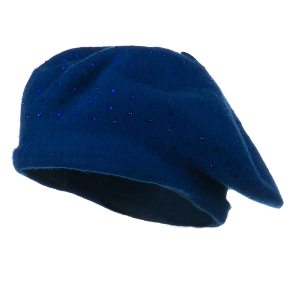 Stone Wool Beret - Blue - Hats and Caps Online Shop - Hip Head Gear