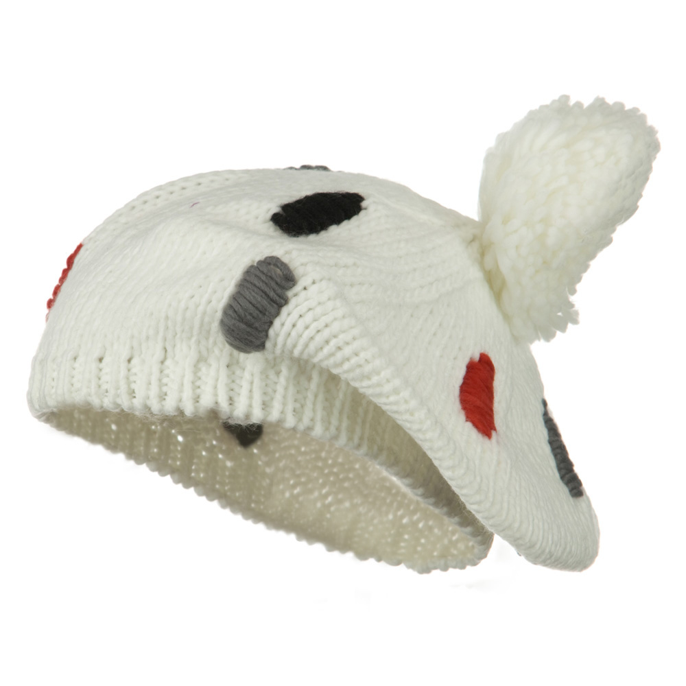 Pom Ball Knit Beret - White - Hats and Caps Online Shop - Hip Head Gear