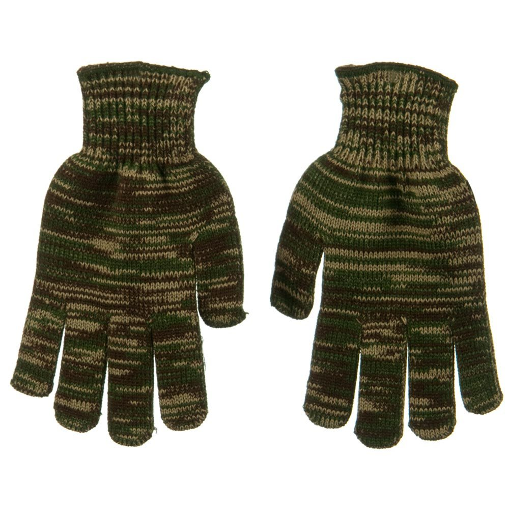 Acrylic Knit Rubber Glove - Dark Green