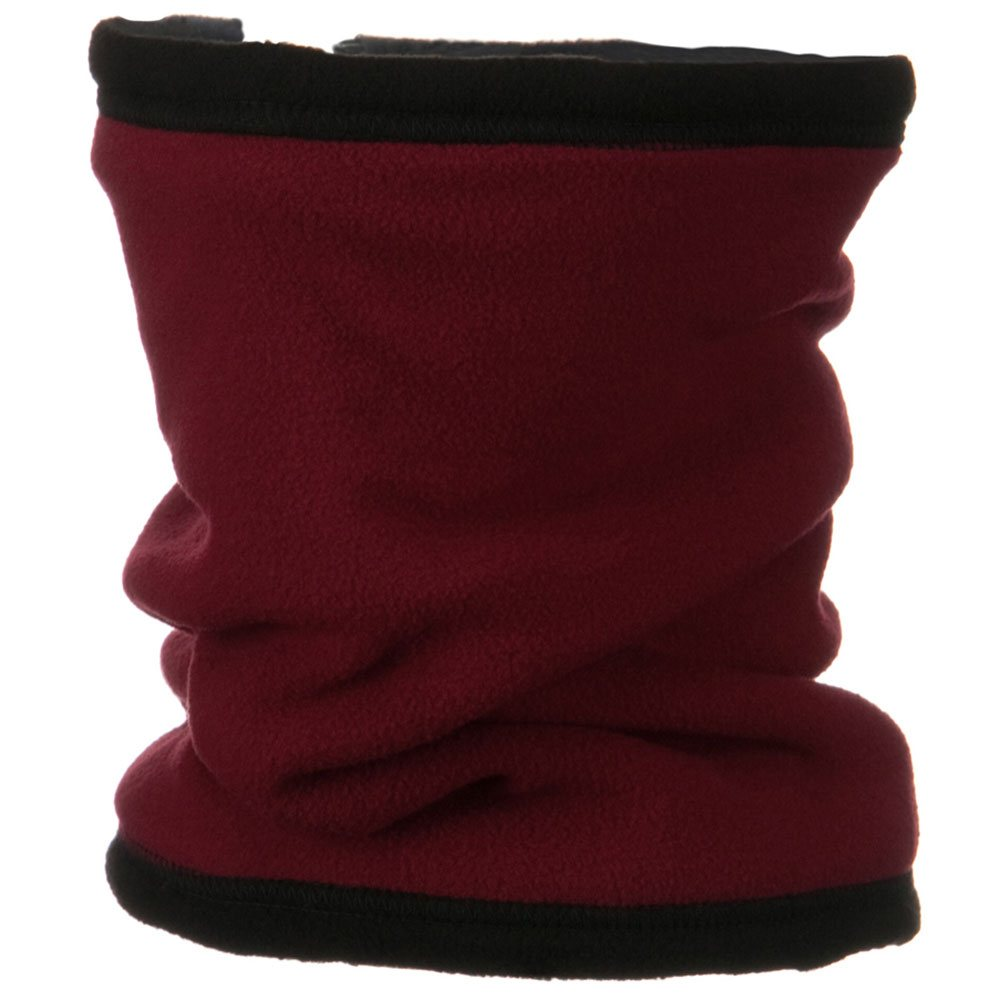 Convertible Fleece Neck Gaiter - Burgundy - Hats and Caps Online Shop - Hip Head Gear
