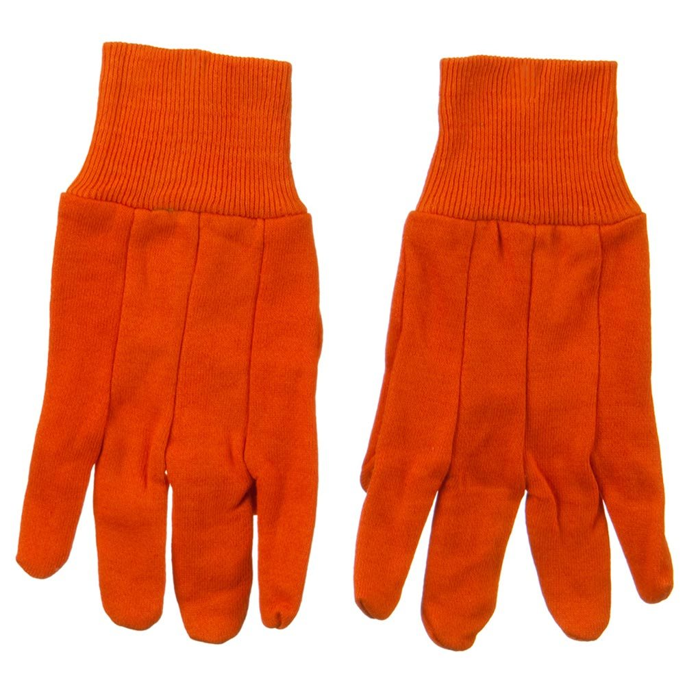 Acrylic Jersey Knit Glove - Blaze Orange