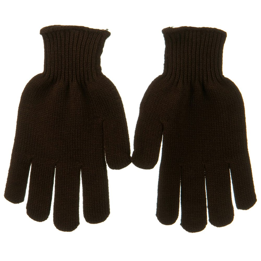 Grips Dot Acrylic Glove - Brown