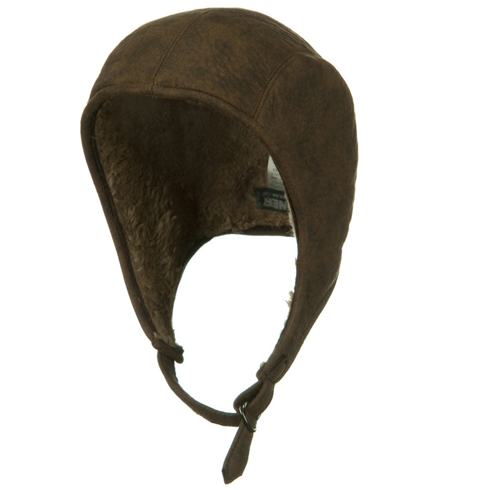 Faux Leather Snoopy Hat - Distressed Brown - Hats and Caps Online Shop - Hip Head Gear