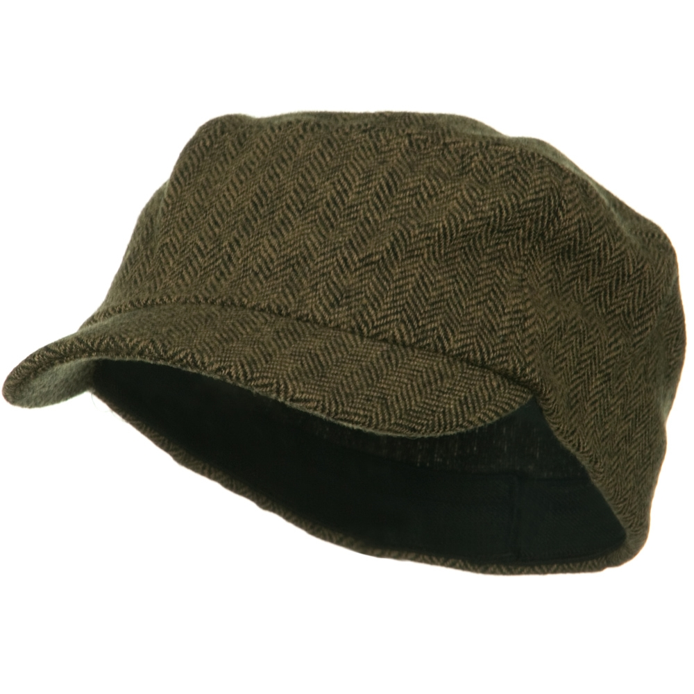 9712576ca33 Wool Fashion Fitted Engineer Cap-Brown - Hats and Caps Online Shop - Hip  Head