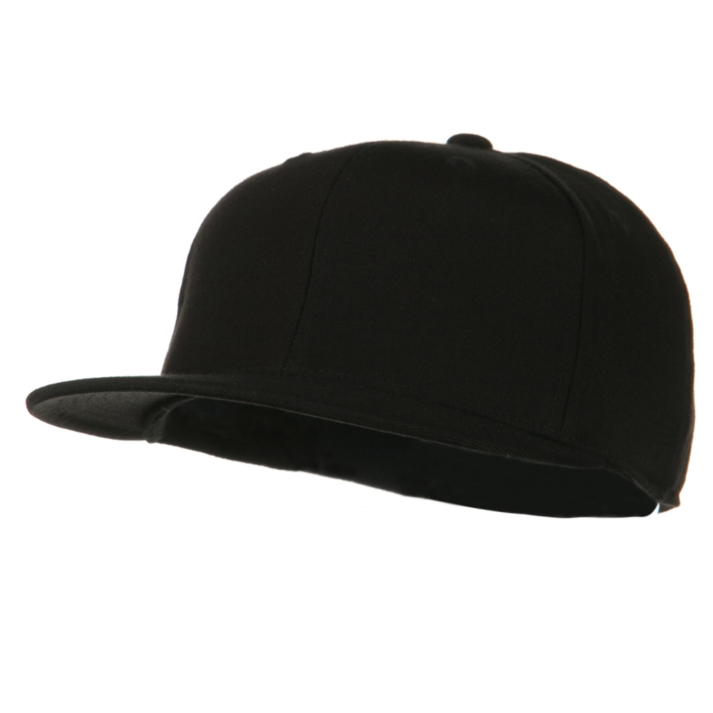 Big Size Premium Fitted Flat Bill Cap - Black - Hats and Caps Online Shop - Hip Head Gear