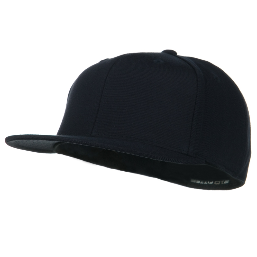 Big Size Premium Fitted Flat Bill Cap - Dark Navy - Hats and Caps Online Shop - Hip Head Gear