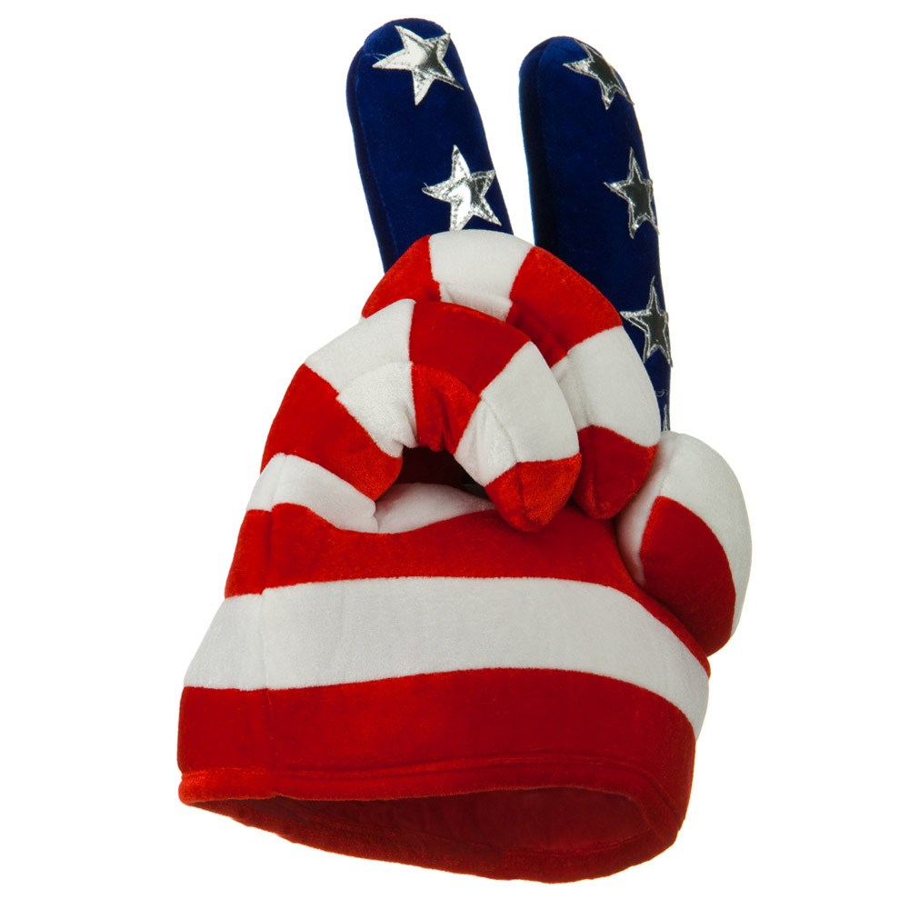 Patriotic Hat - USA Peace Hand - Hats and Caps Online Shop - Hip Head Gear