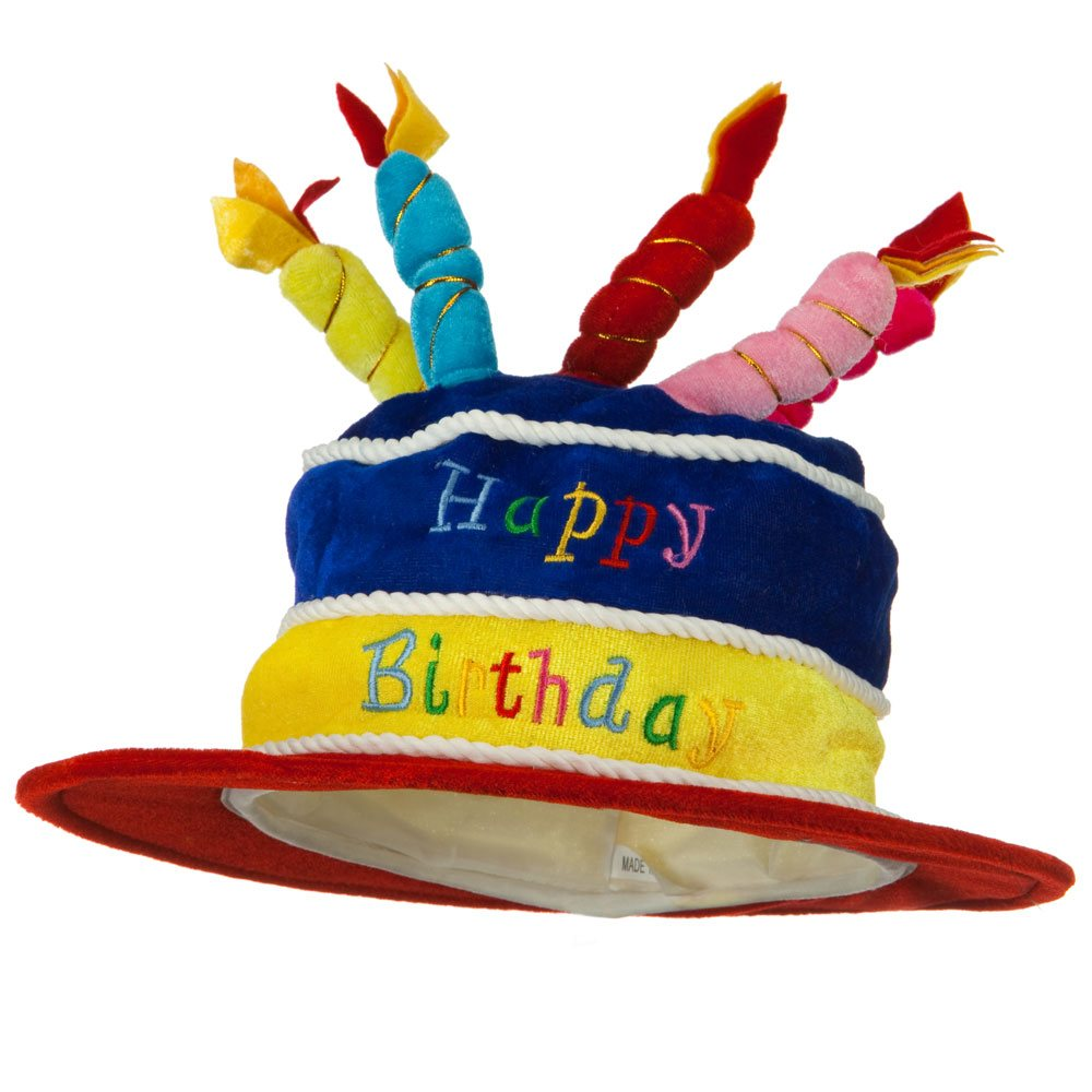 Velvet Happy Birthday Hat