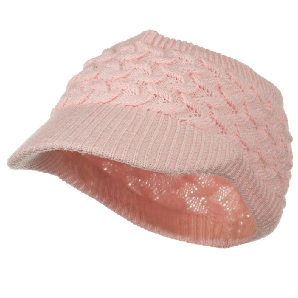 Cable Beanie Band Visor - Pink - Hats and Caps Online Shop - Hip Head Gear