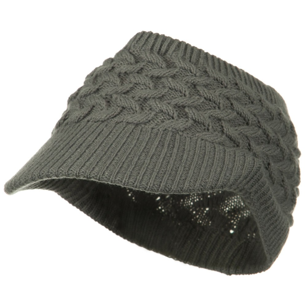 Cable Beanie Band Visor - Grey - Hats and Caps Online Shop - Hip Head Gear
