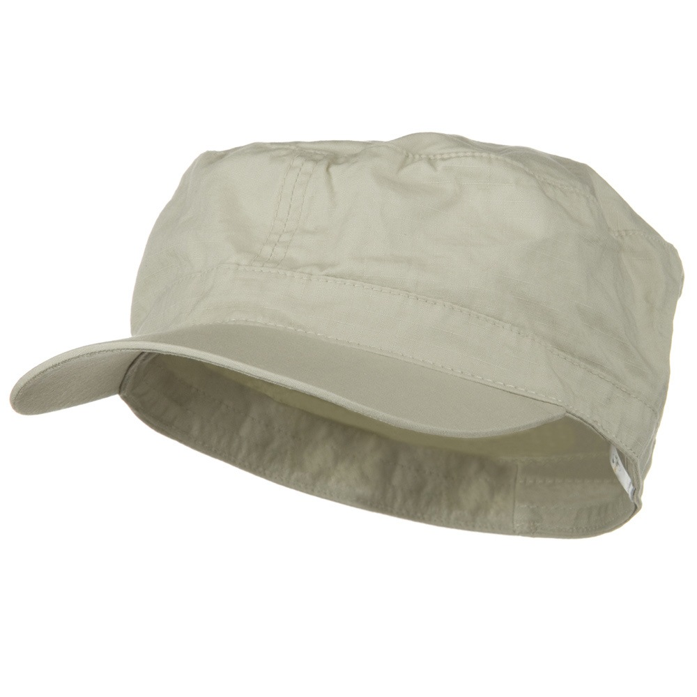 Big Size Fitted Cotton Ripstop Military Army Cap - Stone - Hats and Caps Online Shop - Hip Head Gear