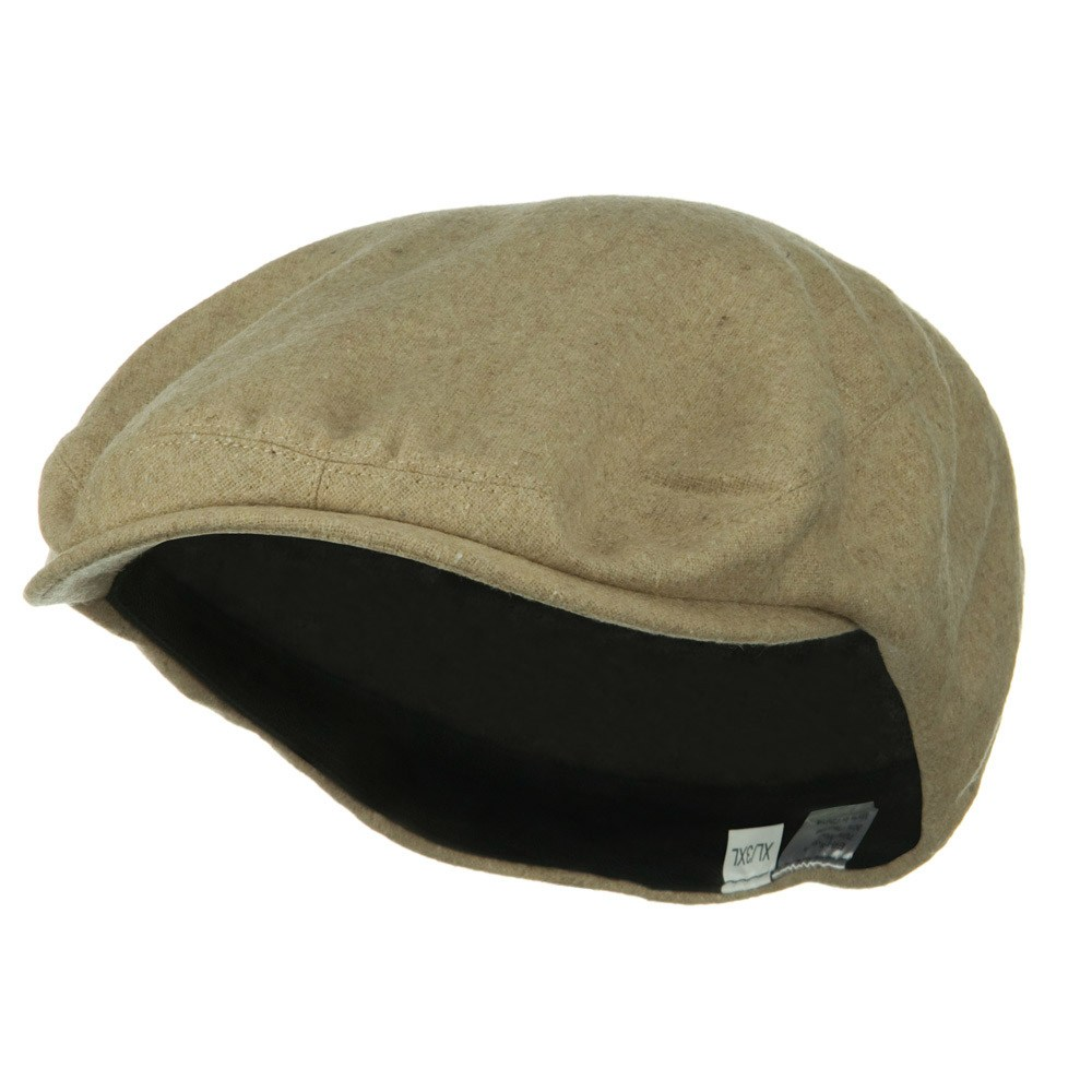 Big Size Elastic Wool Ivy Cap - Camel - Hats and Caps Online Shop - Hip Head Gear