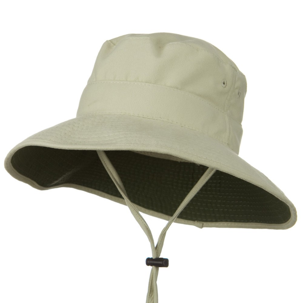 UPF50+ Cool Technology Big Brim Sun Hat - Stone - Hats and Caps Online Shop - Hip Head Gear