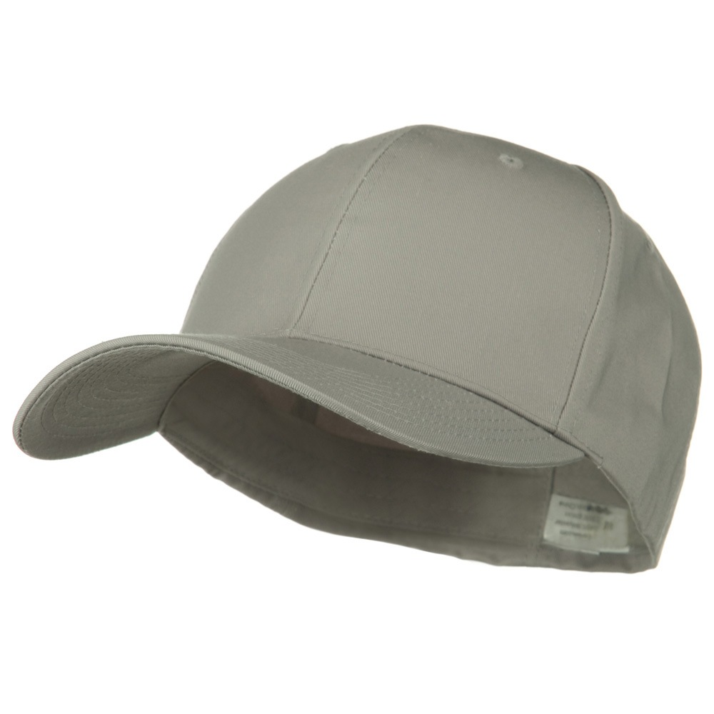 Extra Size Fitted Cotton Blend Cap - Light Grey - Hats and Caps Online Shop - Hip Head Gear
