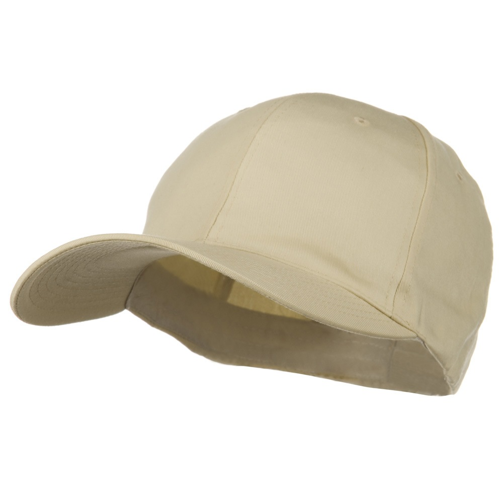 Extra Size Fitted Cotton Blend Cap - Khaki - Hats and Caps Online Shop - Hip Head Gear