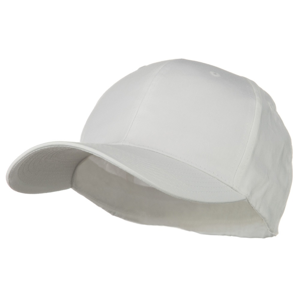 Extra Size Fitted Cotton Blend Cap - White - Hats and Caps Online Shop - Hip Head Gear