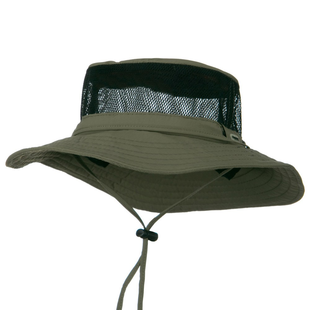 UPF 50+ Mesh Sides Supplex Boonie - Olive - Hats and Caps Online Shop - Hip Head Gear