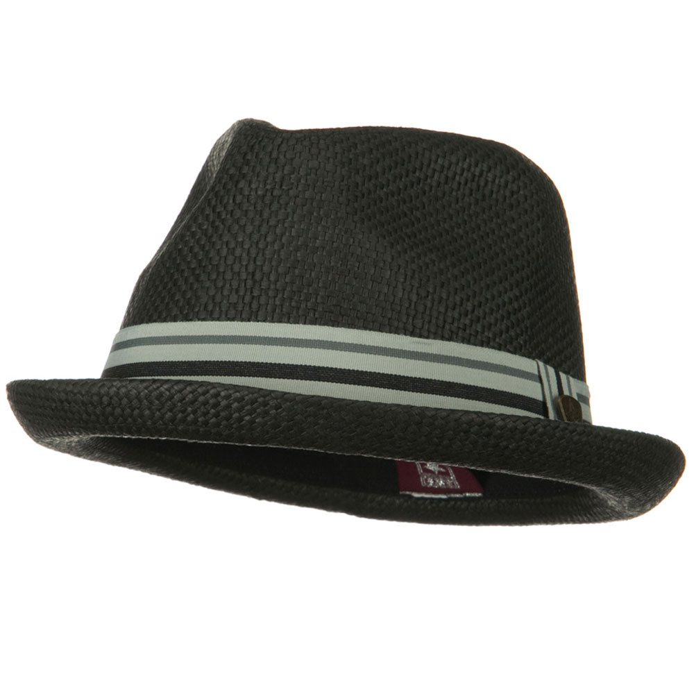 Stripe Band Trilby Hat - Black - Hats and Caps Online Shop - Hip Head Gear