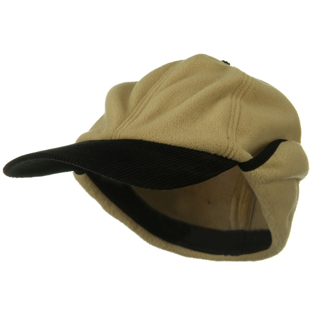 Oversize Fleece Warmer Flap Cap - Camel - Hats and Caps Online Shop - Hip Head Gear