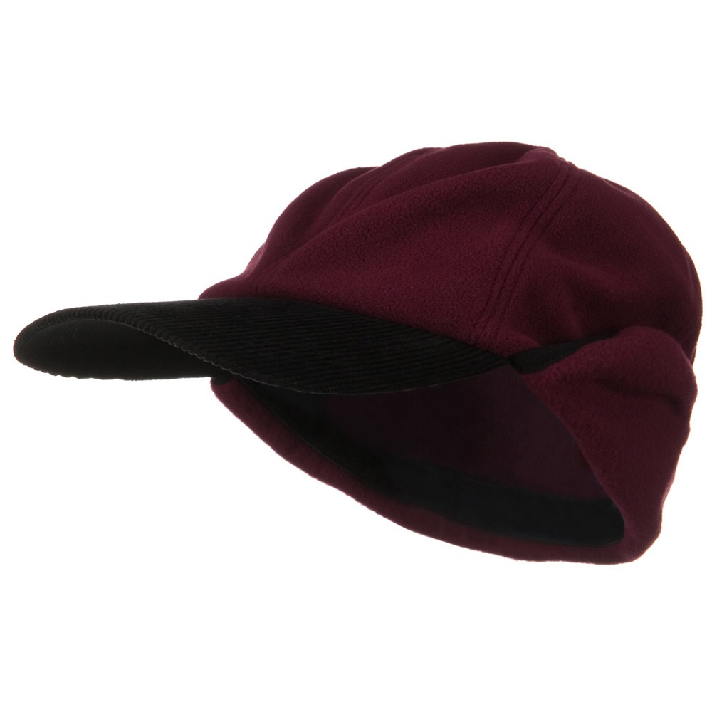 Oversize Fleece Warmer Flap Cap - Wine - Hats and Caps Online Shop - Hip Head Gear