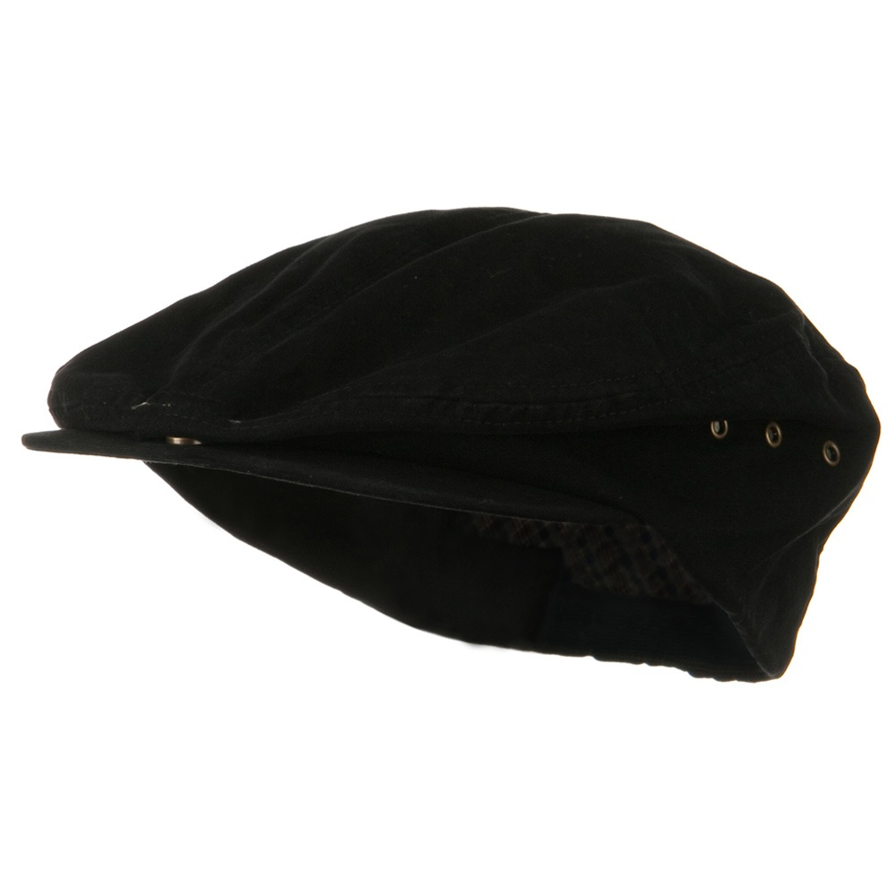 Oversize Washed Canvas Ivy Cap - Black - Hats and Caps Online Shop - Hip Head Gear