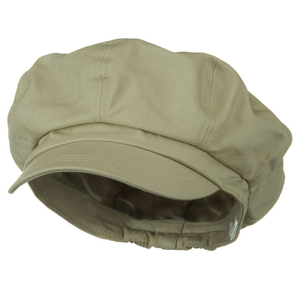 Big Size Cotton Newsboy Hat - Khaki - Hats and Caps Online Shop - Hip Head Gear