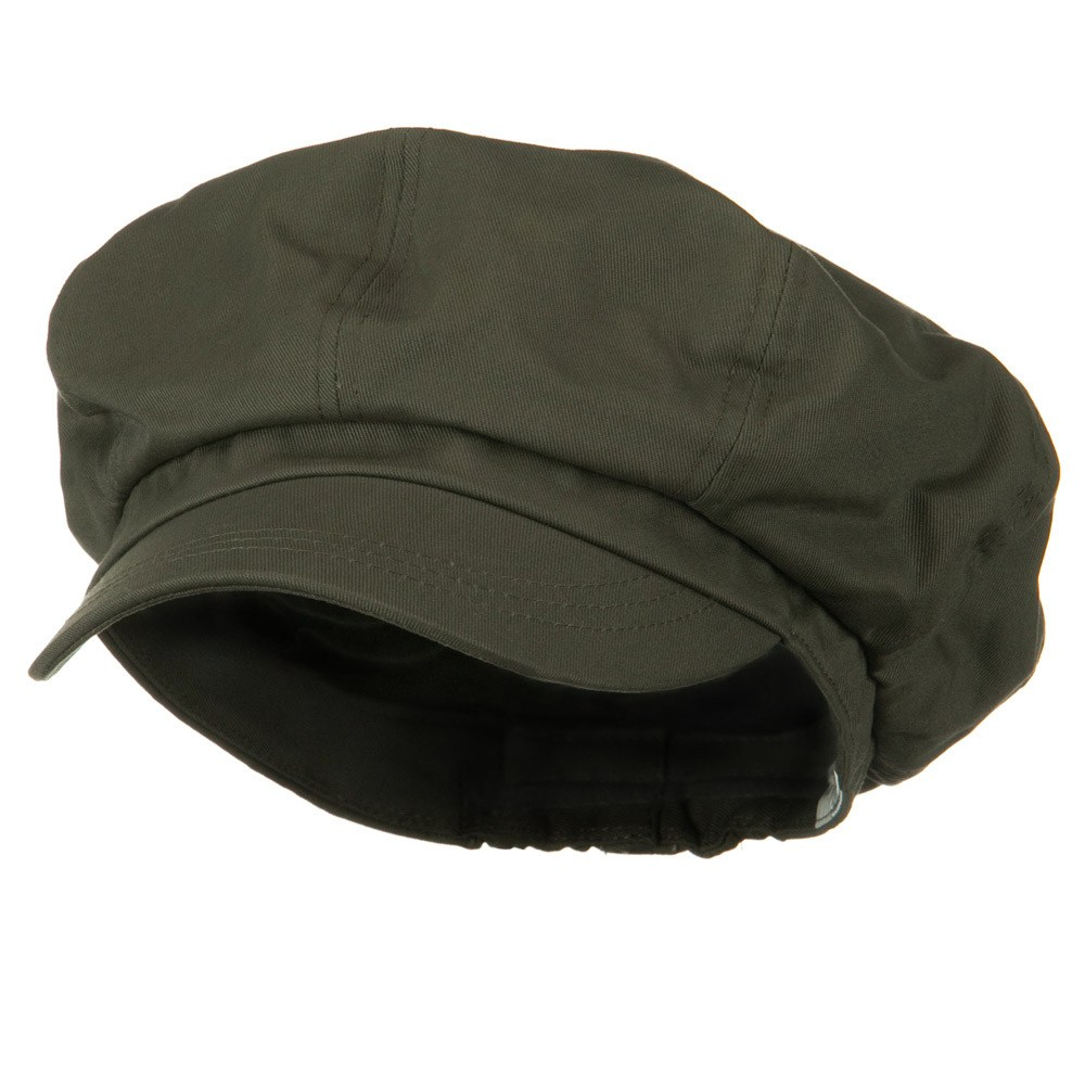 Big Size Cotton Newsboy Hat - Grey - Hats and Caps Online Shop - Hip Head Gear