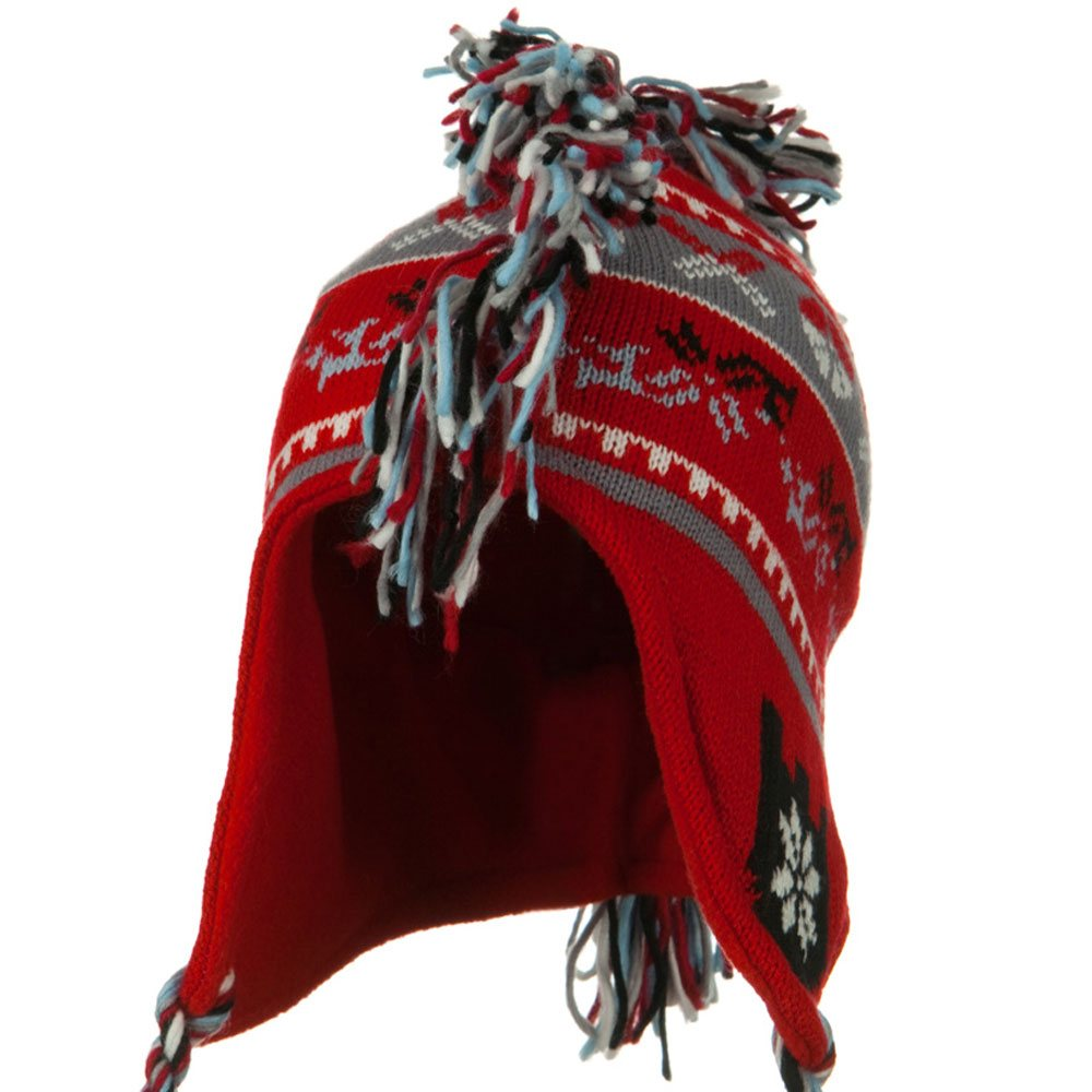 Knit Mohawk Ski Beanie Hat - Red - Hats and Caps Online Shop - Hip Head Gear