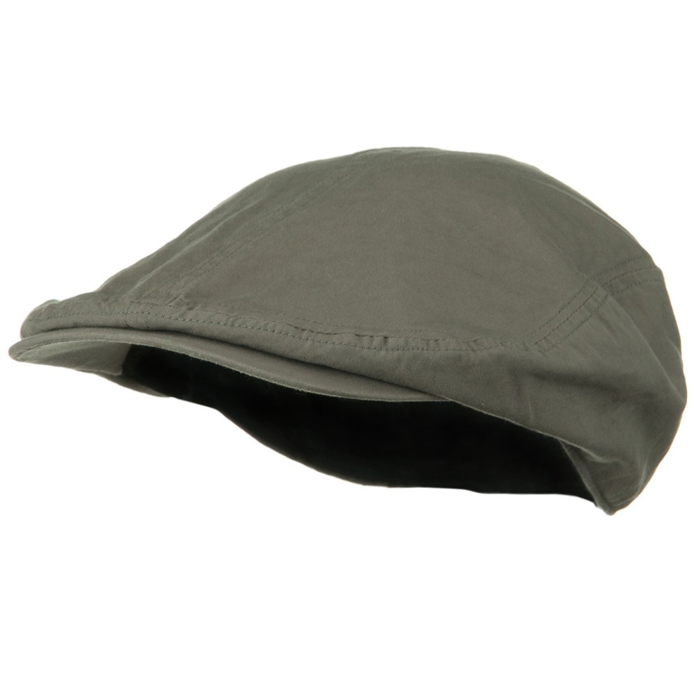 Big Size Washed Canvas Ivy Cap - Grey - Hats and Caps Online Shop - Hip Head Gear
