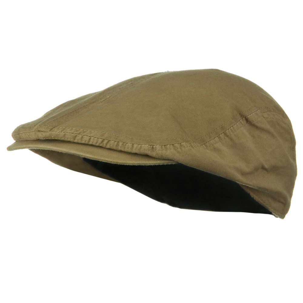 Big Size Washed Canvas Ivy Cap - Khaki - Hats and Caps Online Shop - Hip Head Gear