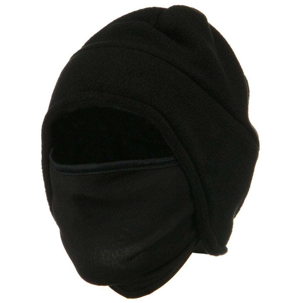 Fleece Contour Beanie Mask - Black - Hats and Caps Online Shop - Hip Head Gear