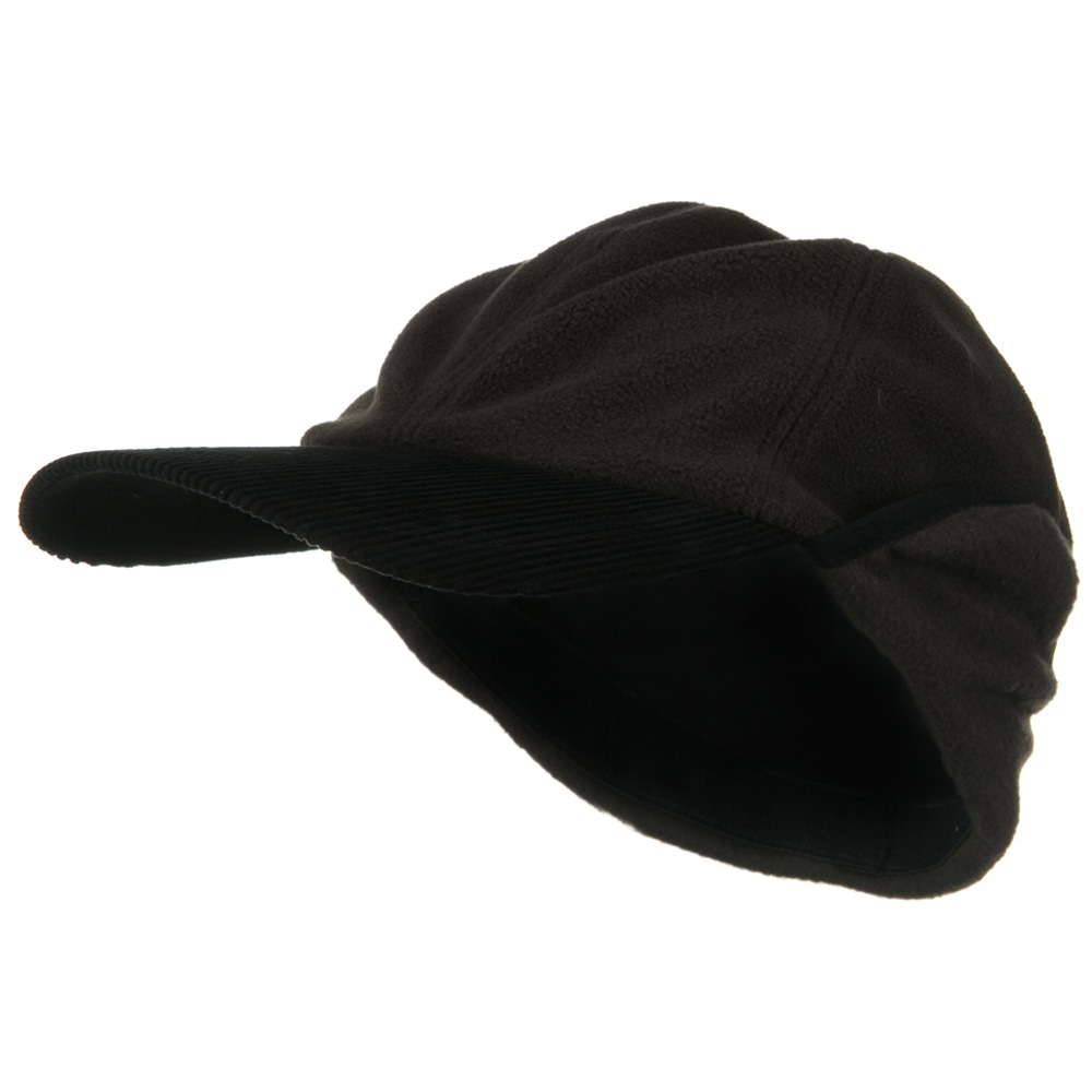 Oversize Fleece Warmer Flap Cap - Brown - Hats and Caps Online Shop - Hip Head Gear