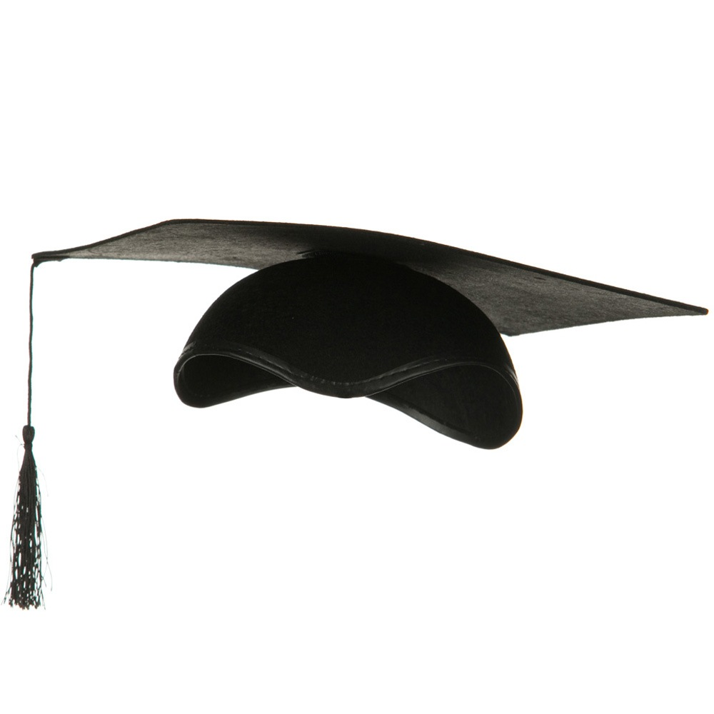 Felt Graduation Hat - Black - Hats and Caps Online Shop - Hip Head Gear