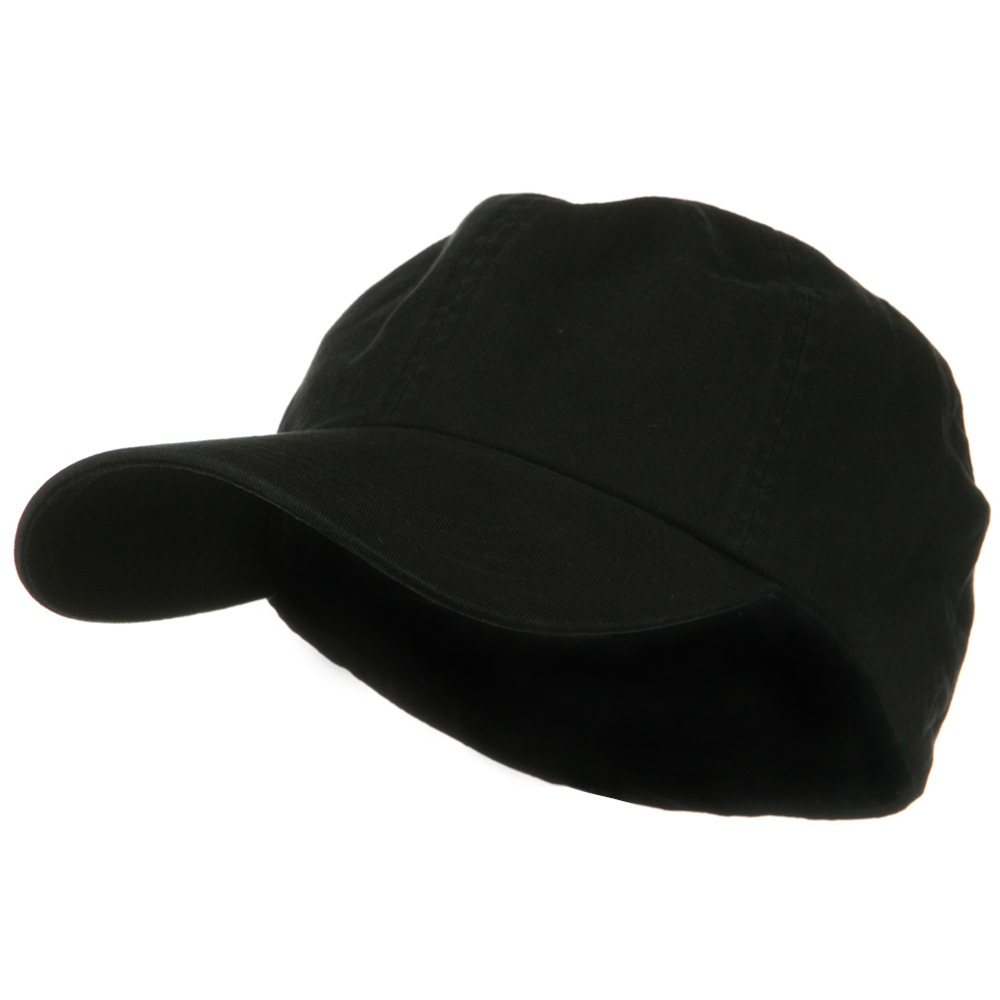 Cotton Twill Big Size Fitted Cap - Black - Hats and Caps Online Shop - Hip Head Gear