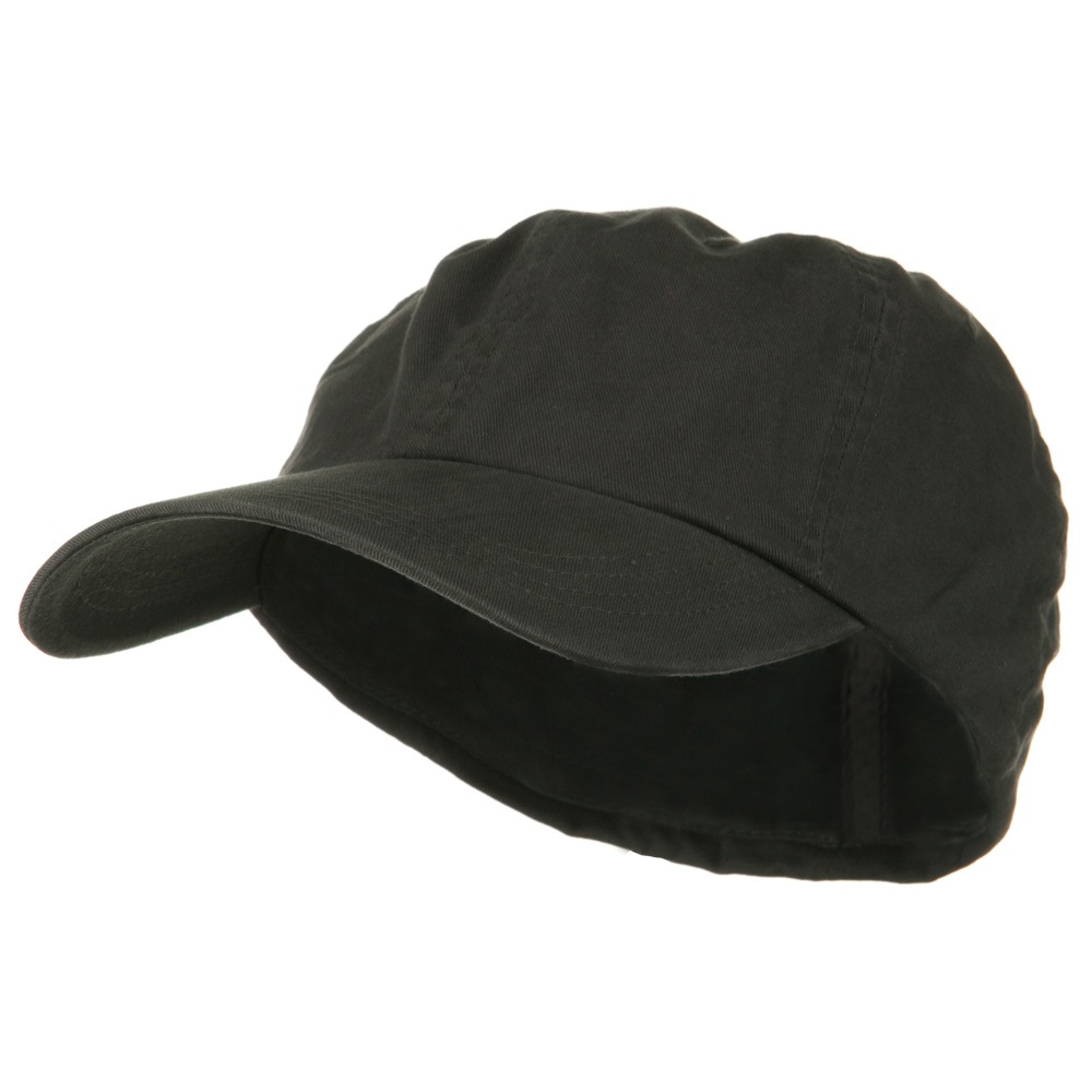 Cotton Twill Big Size Fitted Cap - Charcoal - Hats and Caps Online Shop - Hip Head Gear