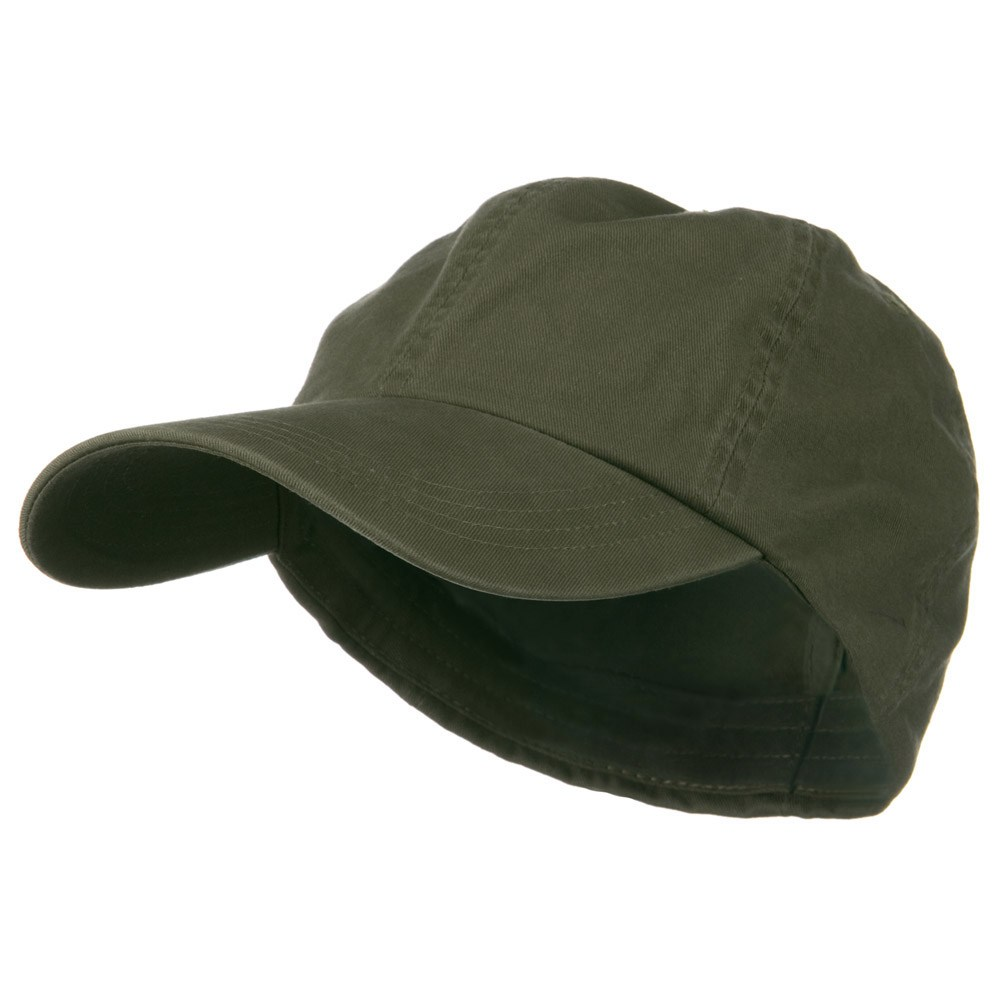 Cotton Twill Big Size Fitted Cap - Olive - Hats and Caps Online Shop - Hip Head Gear