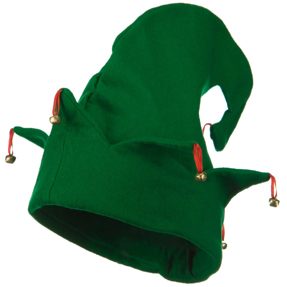 Felt Elf Hat - Green Bells - Hats and Caps Online Shop - Hip Head Gear