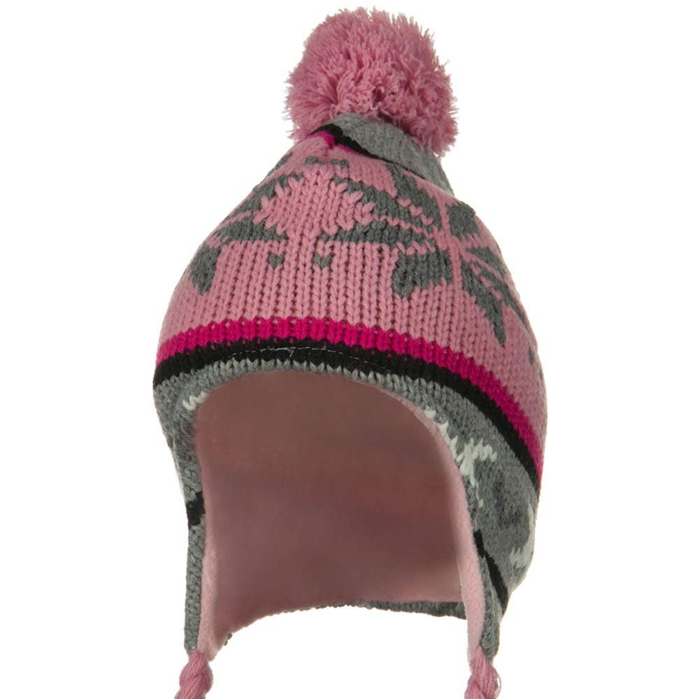 Girl Snow Ski Beanie - Pink Grey - Hats and Caps Online Shop - Hip Head Gear