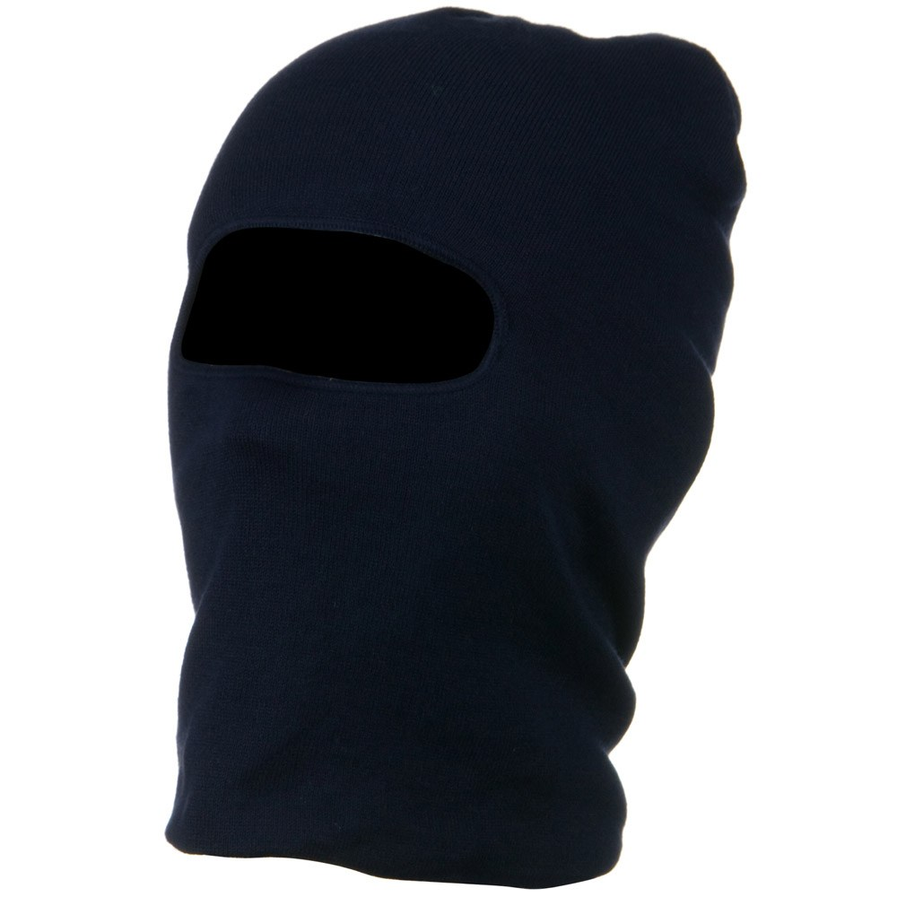 Cool Max Polyester Face Mask - Navy