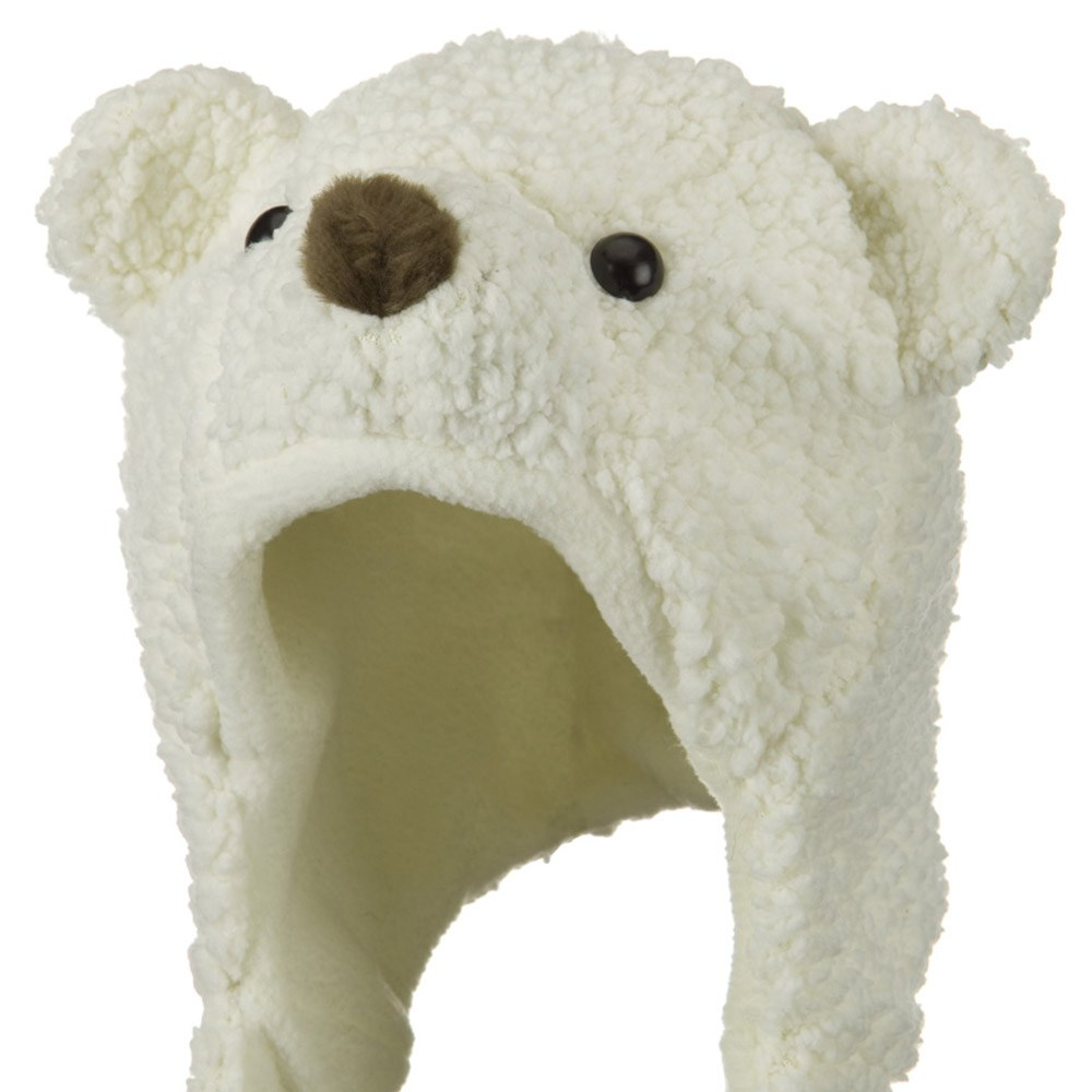 Fleece ML Animal Hat - Snow Bear Beige - Hats and Caps Online Shop - Hip Head Gear