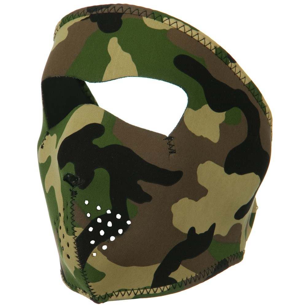 Neoprene Full Face Mask - Woodland Camo - Hats and Caps Online Shop - Hip Head Gear