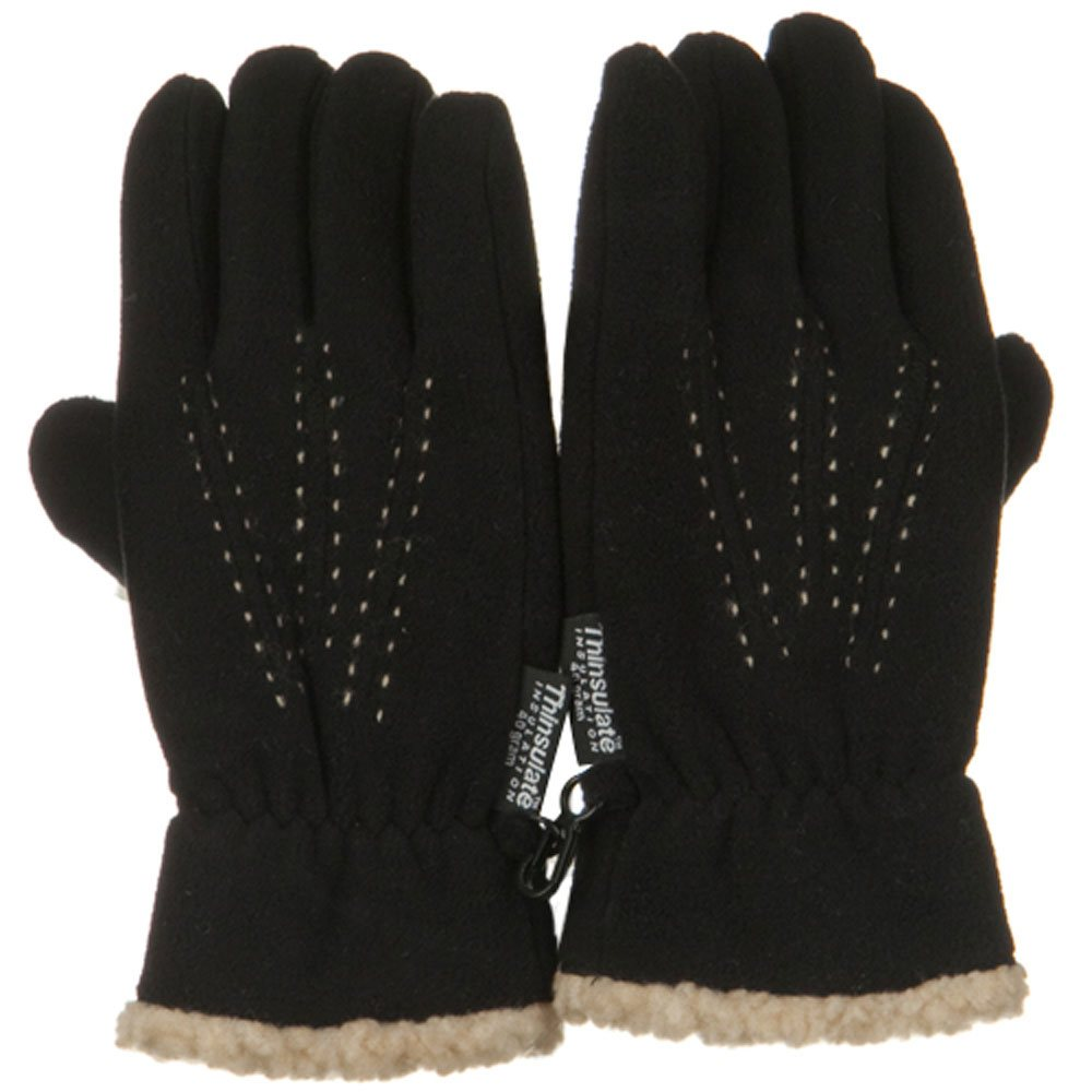 Three Pleat Lady Microfleece Glove - Black
