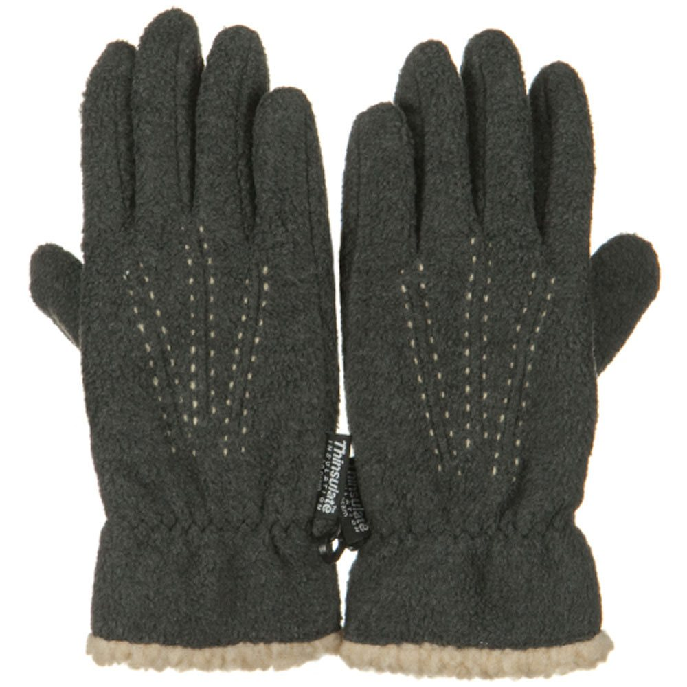 Three Pleat Lady Microfleece Glove - Grey