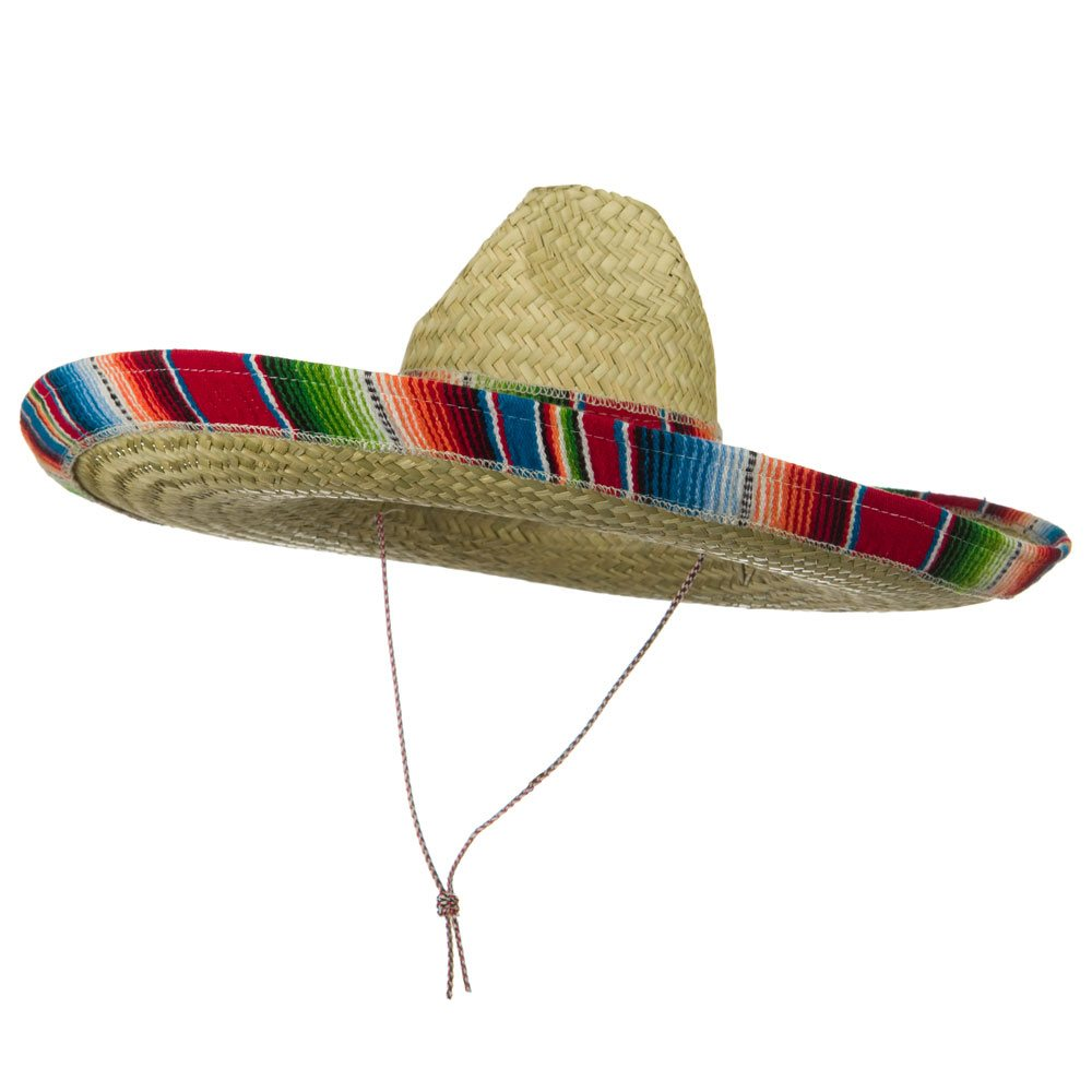 Serape Band Straw Sombrero - Red - Hats and Caps Online Shop - Hip Head Gear