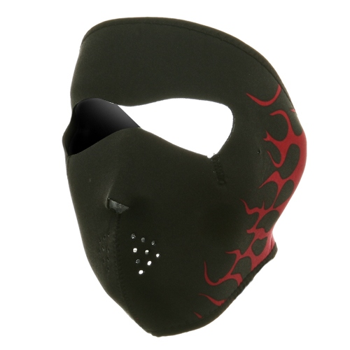 Neoprene Full Face Mask - Red Flames - Hats and Caps Online Shop - Hip Head Gear