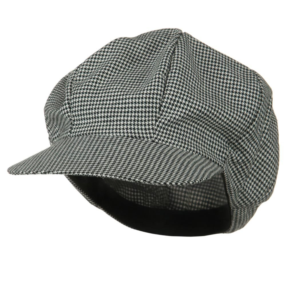 Houndstooth Newsboy Cap-White Black - Hats and Caps Online Shop - Hip Head Gear