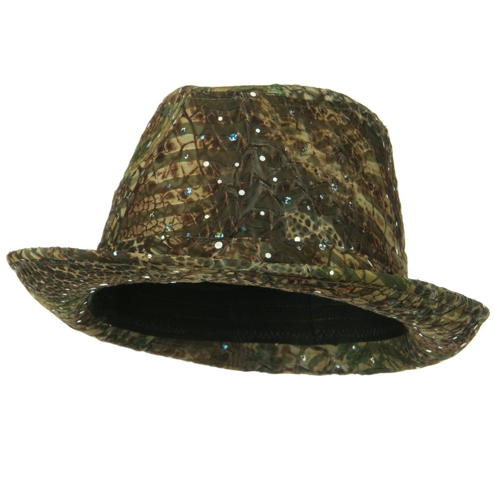 New Glitter Fedora Hat - Taupe - Hats and Caps Online Shop - Hip Head Gear